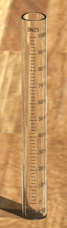 玻璃转子流量计刻度玻璃管